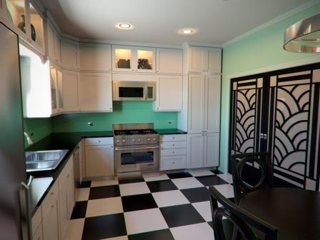 New art deco designer fitted skyscraper style kitchens designs for Modern art deco kitchen design