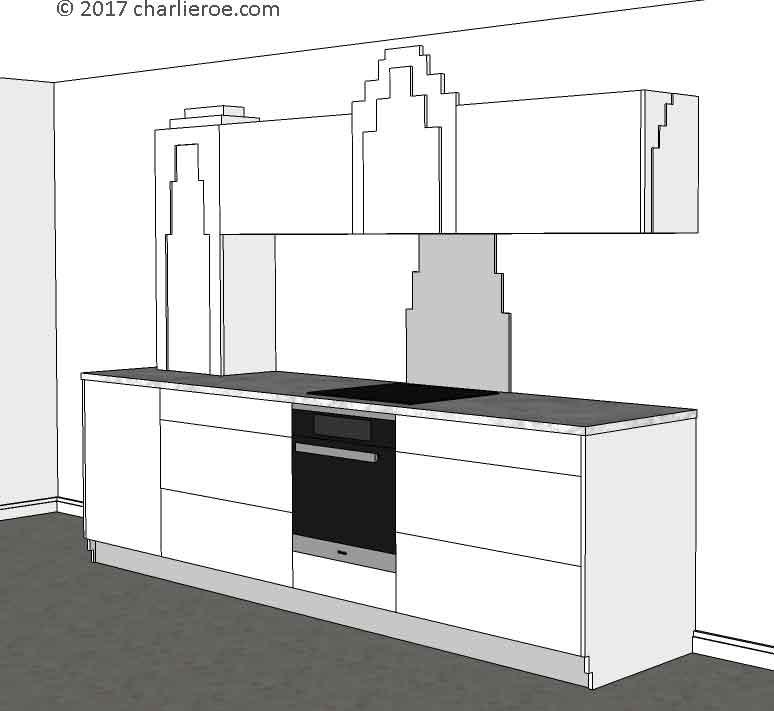 12 Art Deco Kitchen Designs And Furniture: New Art Deco Skyscraper Style Designer Fitted Kitchens In