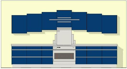 Art Deco new Stepped fitted kitchen design