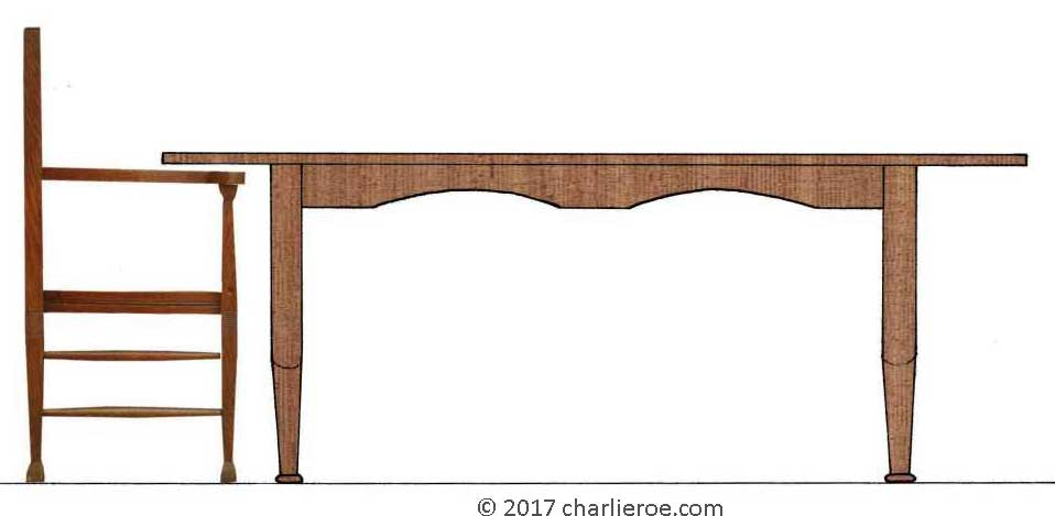 Wood Used For Elevation : New reproduction art nouveau oak dining table