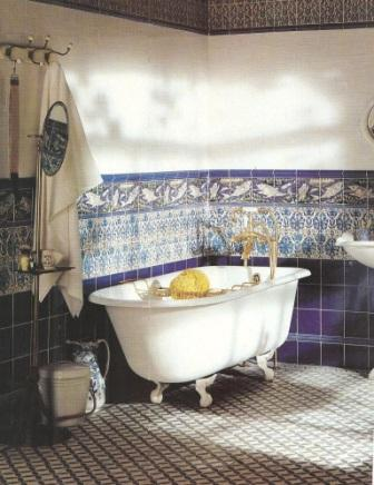 New arts crafts movement fittedbathrooms bathroom design for Arts crafts bathroom design