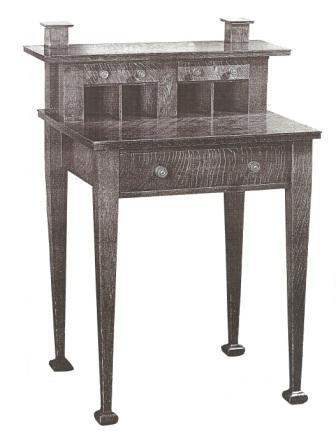 Ah Mackmurdo Arts Crafts Movement Oak Desk Furniture