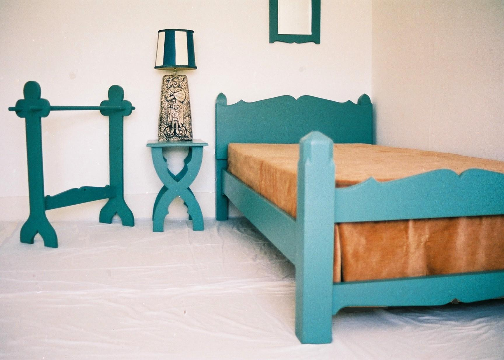 The Priory Suite Painted Arts Crafts Gothic Bed And Bedroom Furniture