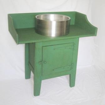 Wm Morris Arts & Crafts Movement green painted Artisan wash stand vanity unit