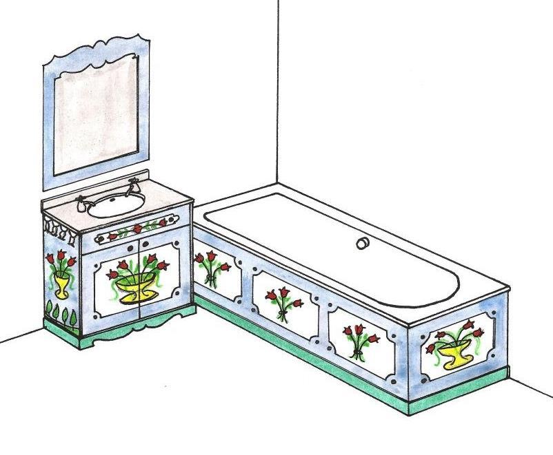 Ornate bathroom vanity - Painted Austrian Tirolean Vanity Units Amp Bathroom Folk