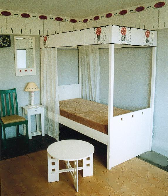 Charles Rennie CR Mackintosh bed, wardrobe & bedroom furniture