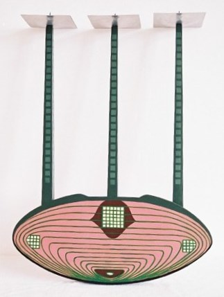 Charles Rennie CR Mackintosh's Willow Tea Room's painted wall sconce candelabra