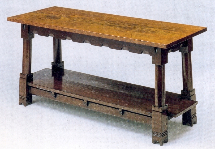 New Gothic Carved Wood Painted Pine Dining Tables And