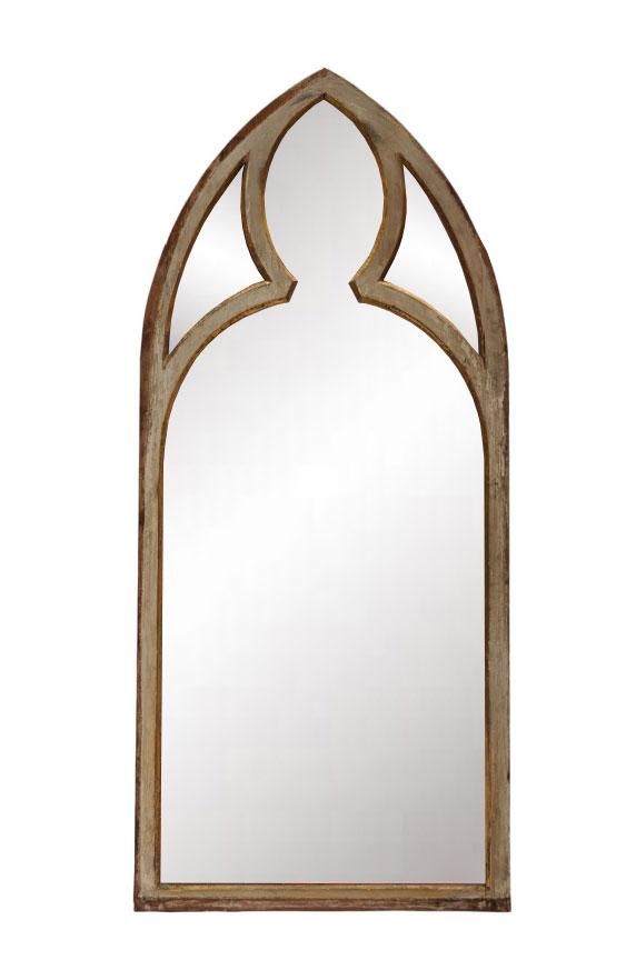 New gothic tracery church window style antiqued painted for Church style mirrors